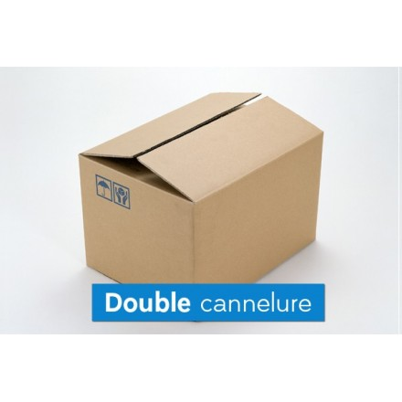 Caisse imprimerie double cannelure