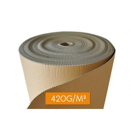 Rouleau carton ondulé 420g/m²
