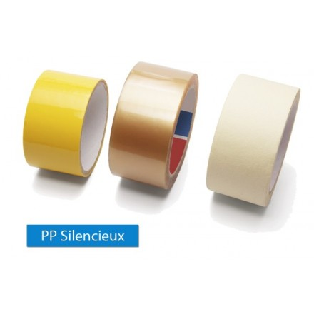 Ruban adhésif polypropylène silencieux