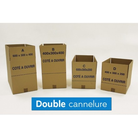 Caisse carton Redoute double cannelure