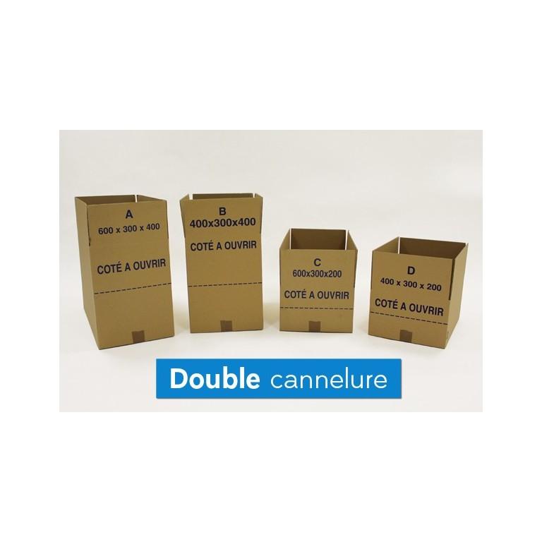 Caisse carton Redoute double cannelure
