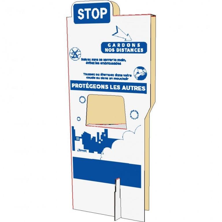 Séparateur de poste de travail geste barrière - Distripackaging