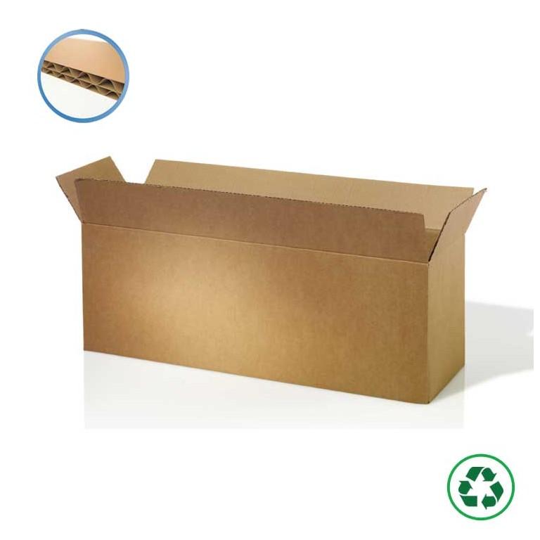 Caisse carton pour produits longs - Distripackaging