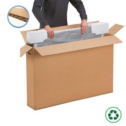 Caisse carton double cannelure pour écran plat