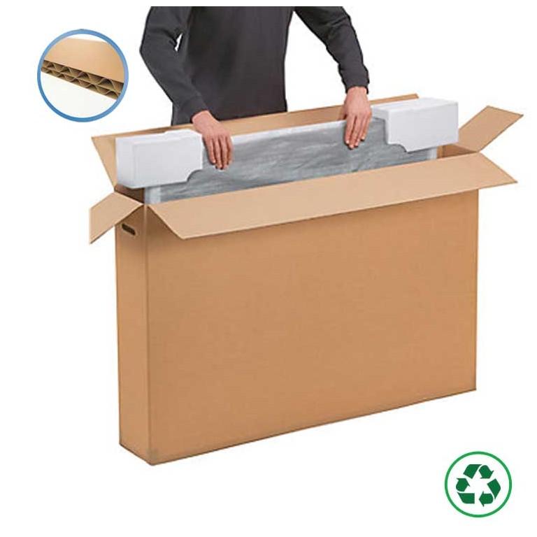 Caisse carton pour écran plat - Distripackaging