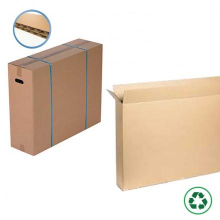 Caisse carton double cannelure pour écran plat - Distripackaging