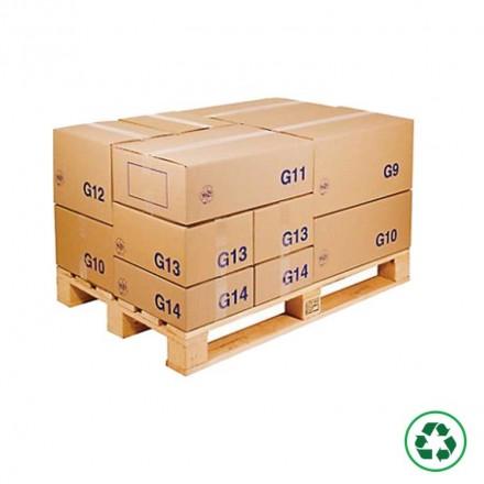 Caisse carton palettisable type G