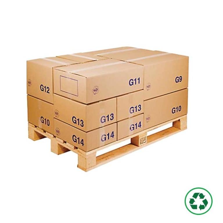 Caisse carton palettisable économique - Distripackaging