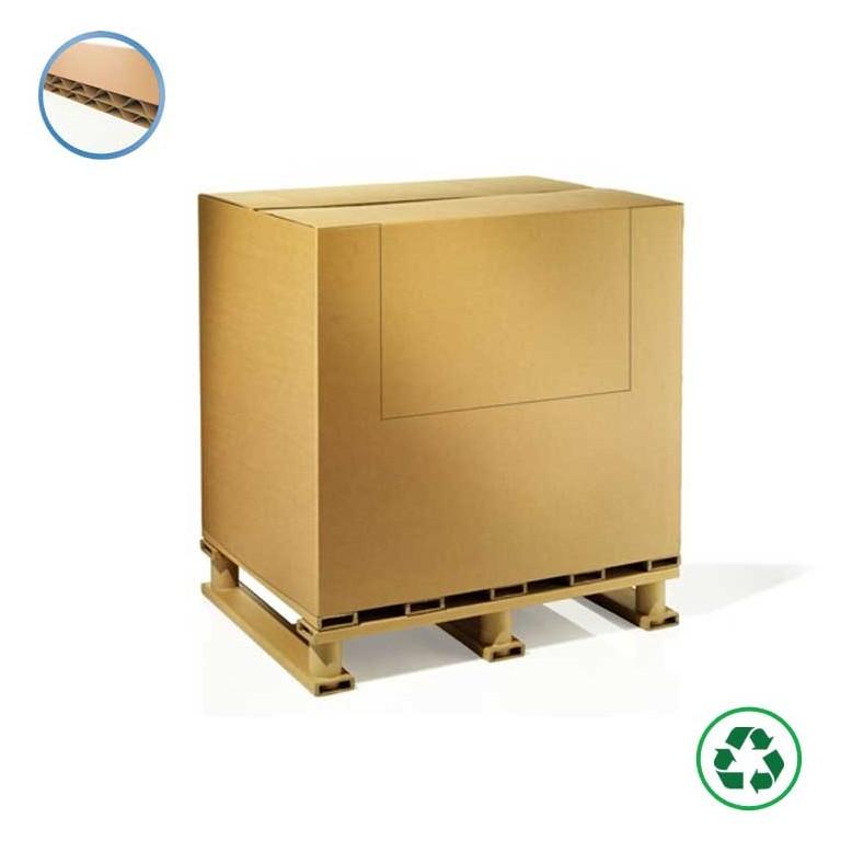Conteneur carton avec abattant - Distripackaging