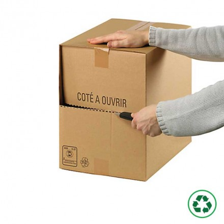Caisse carton Redoute simple cannelure