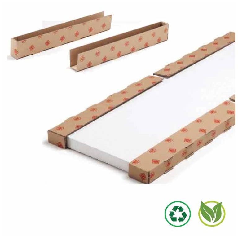 Profilé en carton avec 1 coté fermé - Distripackaging
