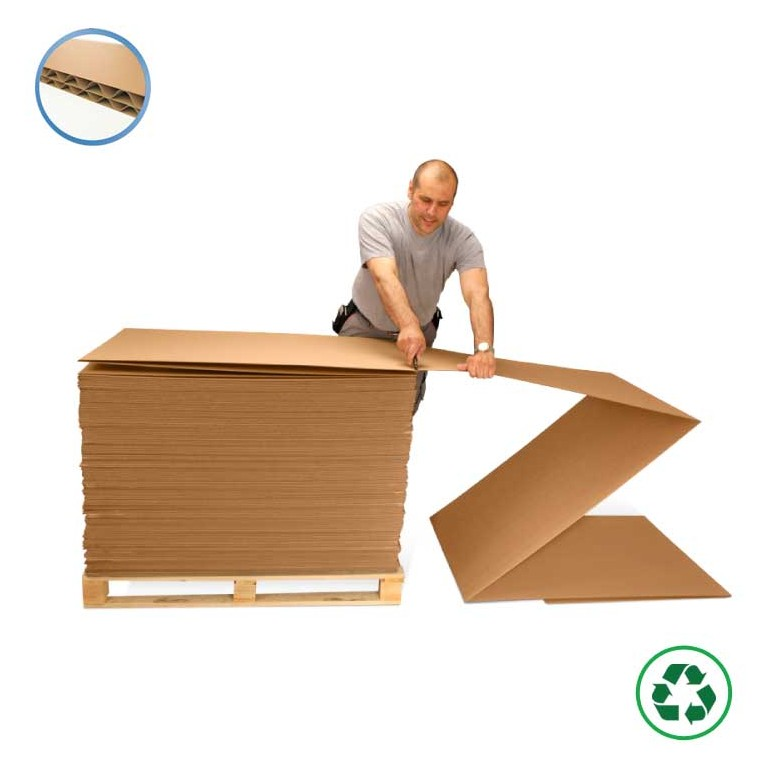 Plaque accordéon en carton - Distripackaging