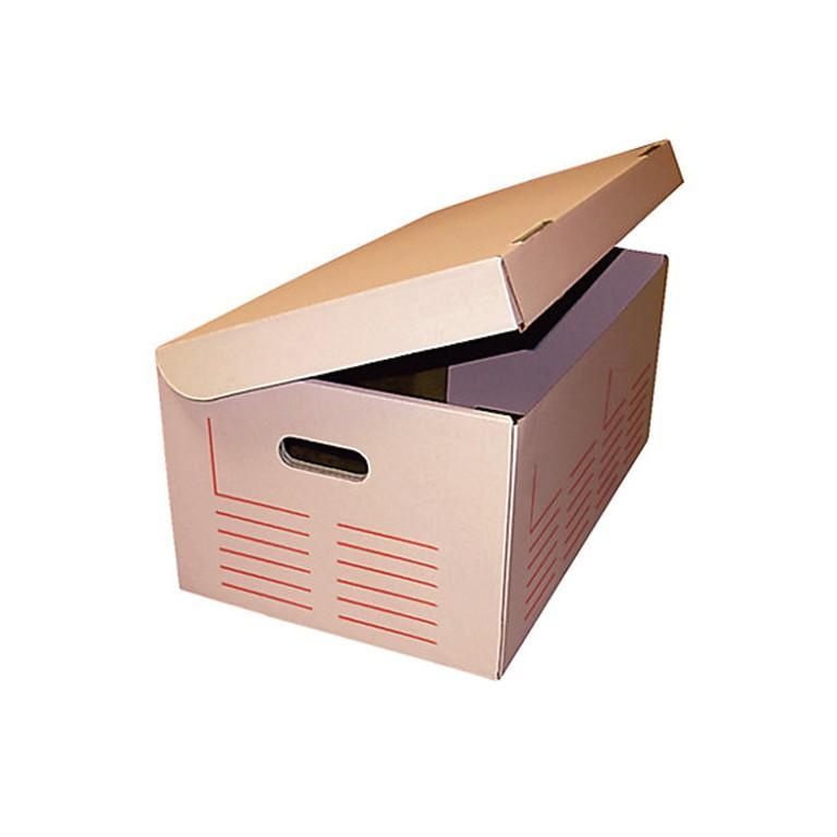Caisse d'archivage multi-usages à poignées