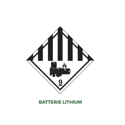 Étiquette batterie Lithium - Distripackaging