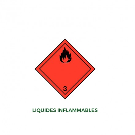 Étiquettes liquide inflammable - Distripackaging