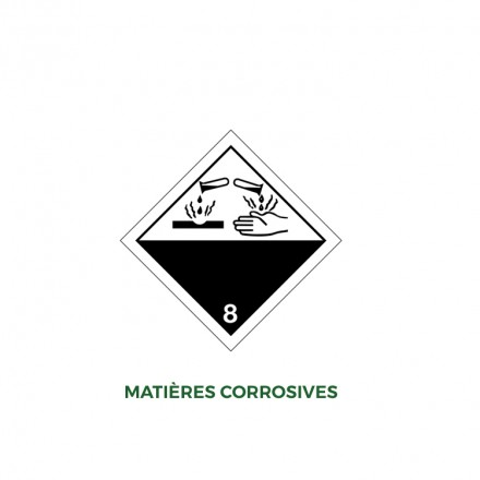 Étiquettes matières corrosives - Distripackaging