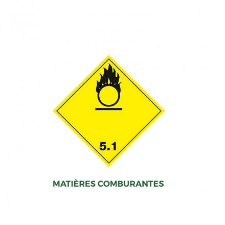 Étiquettes matières combustibles - Distripackaging