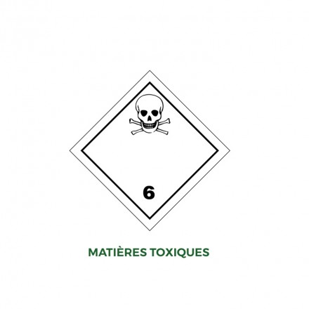 Étiquettes matières toxiques - Distripackaging