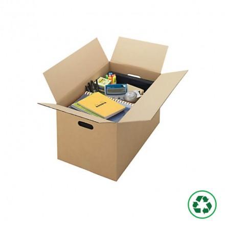 Carton déménagement avec poignée - Distripackaging