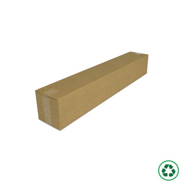 Caisse carton pour produit long avec rabats recouvrant