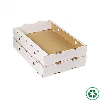 Plateau en carton pour transport alimentaire.