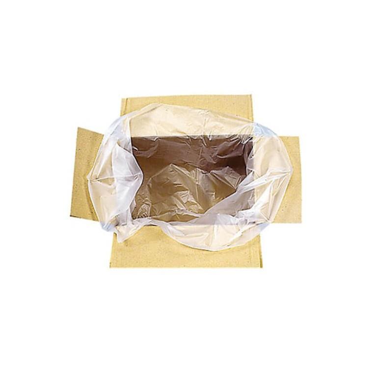 Sac plastique apte contact alimentaire pour fond de caisse carton