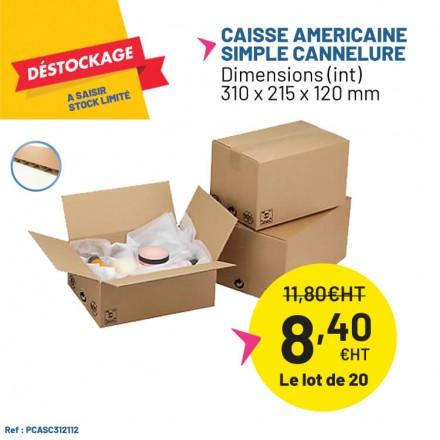 Déstockage - caisse carton simple cannelure a petit prix !