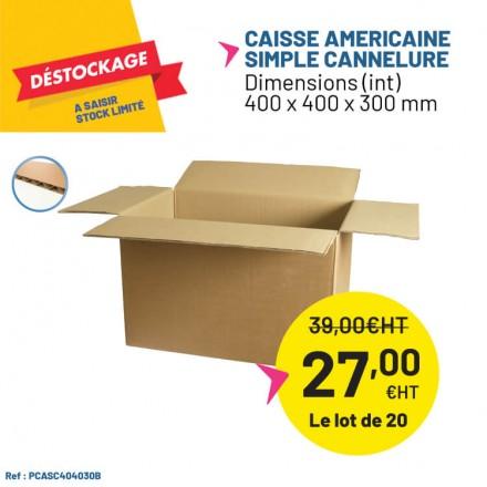 Caisse carton simple cannelure pas cher