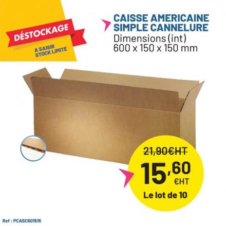 Déstockage caisse carton pour produit long.