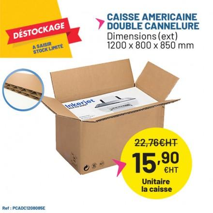 Déstockage grande caisse carton double cannelure