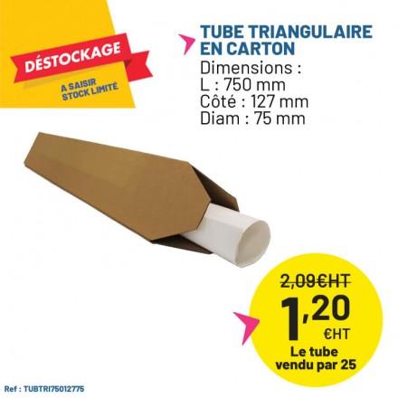 Tube triangulaire en carton - envois postaux.