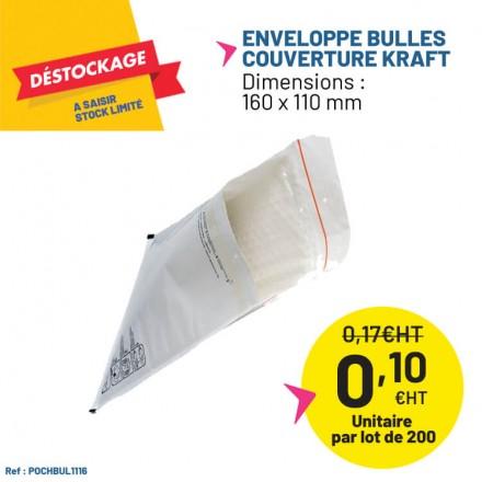 Enveloppes bulles avec couverture kraft.