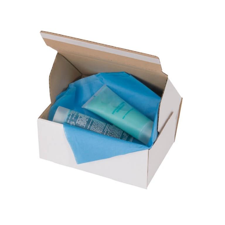 Boîte postales adhésives blanches - Distripackaging