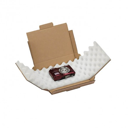 Boite postale carton avec protection en mousse - Distripackaging