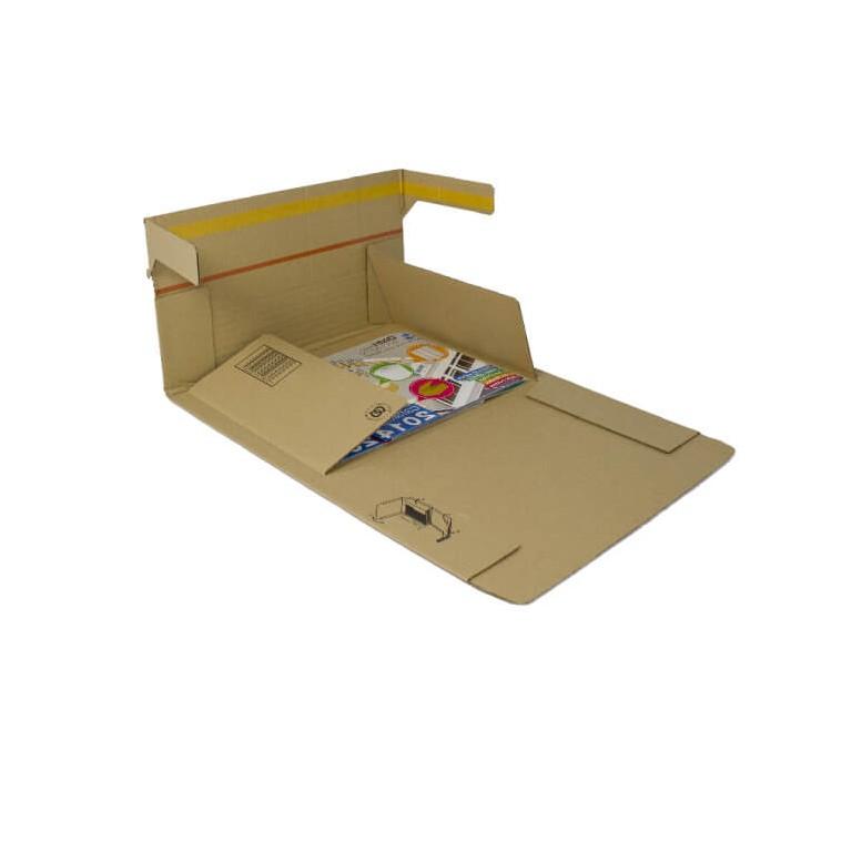 Étui carton renforcé avec fermeture adhésive - Distripackaging