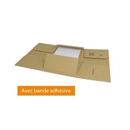 Emballage carton avec fermeture adhésive