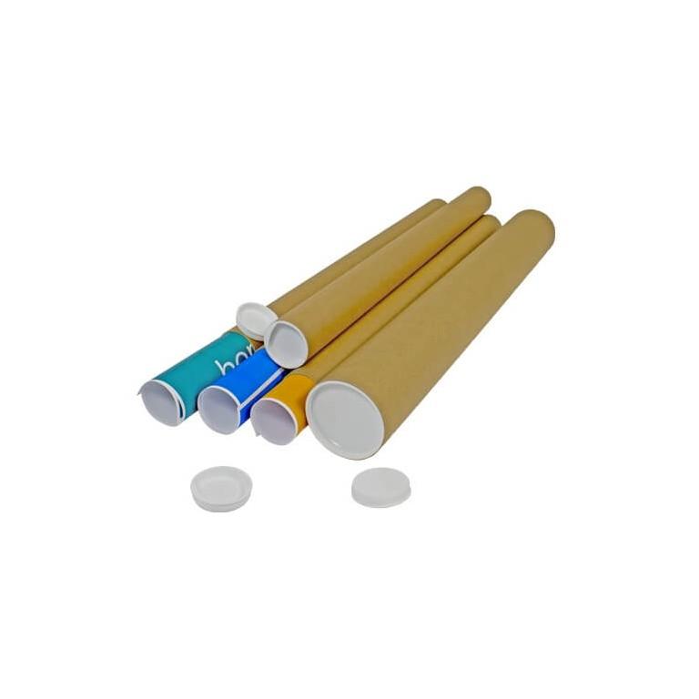 Tube postal rond en carton - Distripackaging