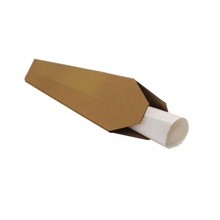 Distripackaging - Tube triangulaire en carton pour envois postaux