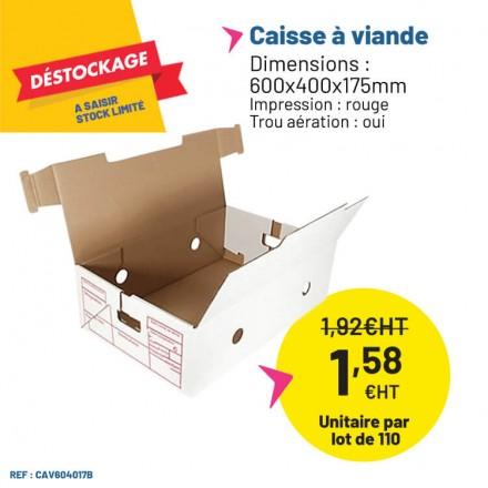 Caisse en carton pour le transport et le stockage de la viande de boucherie