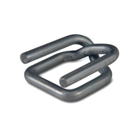 Boucle acier antiglisse pour feuillard textile