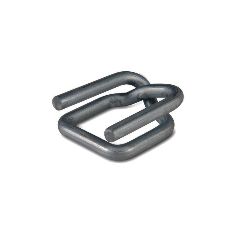 Boucle acier antiglisse pour feuillard textile - Distripackaging