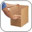 Caisse carton a hauteur variable
